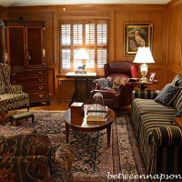 Family Room With Judges Paneling