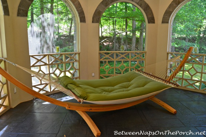 Floor-Standing Hammock on Porch
