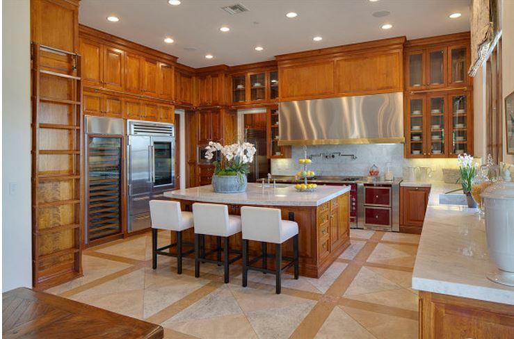 Heidi Klum's Kitchen in CA Home