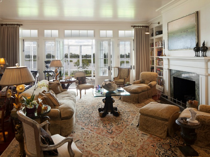 Living Room With Lake View
