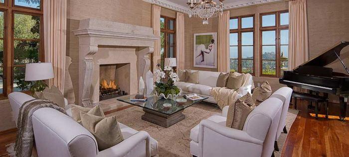Music Room in Heidi Klum's Brentwood Estates California Home