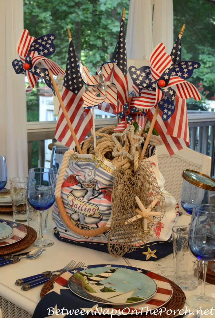 Nautical Table Setting for 4th of July