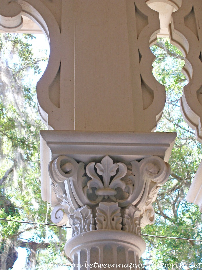 Ornate Columns, Longwood, Natchez Mississippi