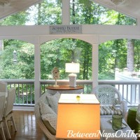 Screened-in Porch Freshened Up With Paint