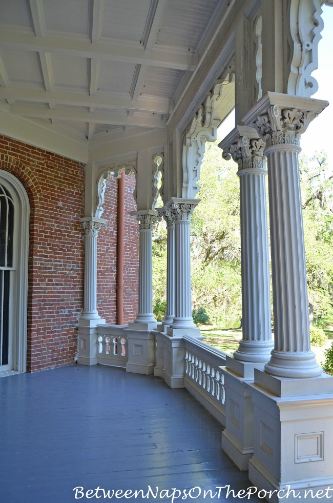 Porch of Longwood Mansion, Natchez Mississippi