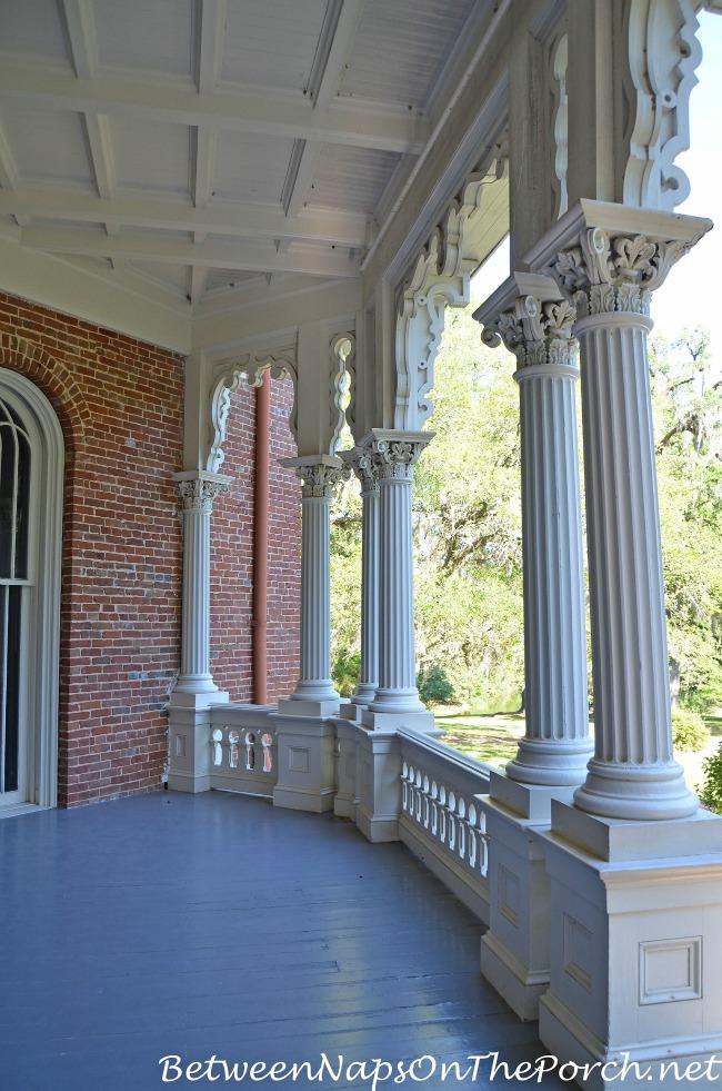 Porch of Longwood Mansion, Natchez Mississippi