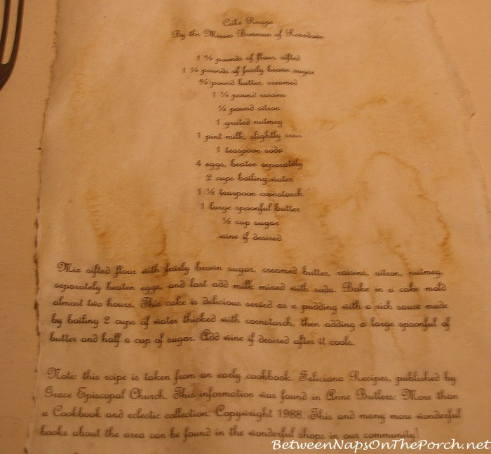 Rosedown Plantation Cake Recipe