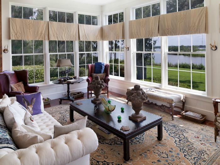 Sunroom with Lake View