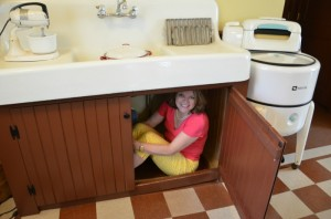 Under the sink in A Christmas Story House