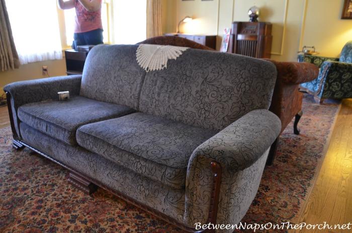 A Christmas Story Blue Sofa