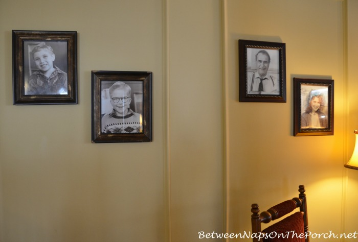 A Christmas Story Family Photos on Wall