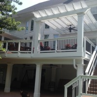 Beautiful Screened Porch, Deck And Pergola Addition