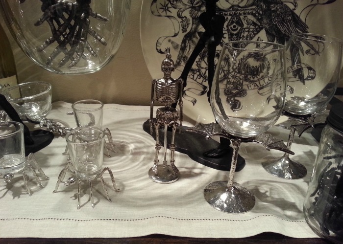 Bat Halloween Wine Glasses