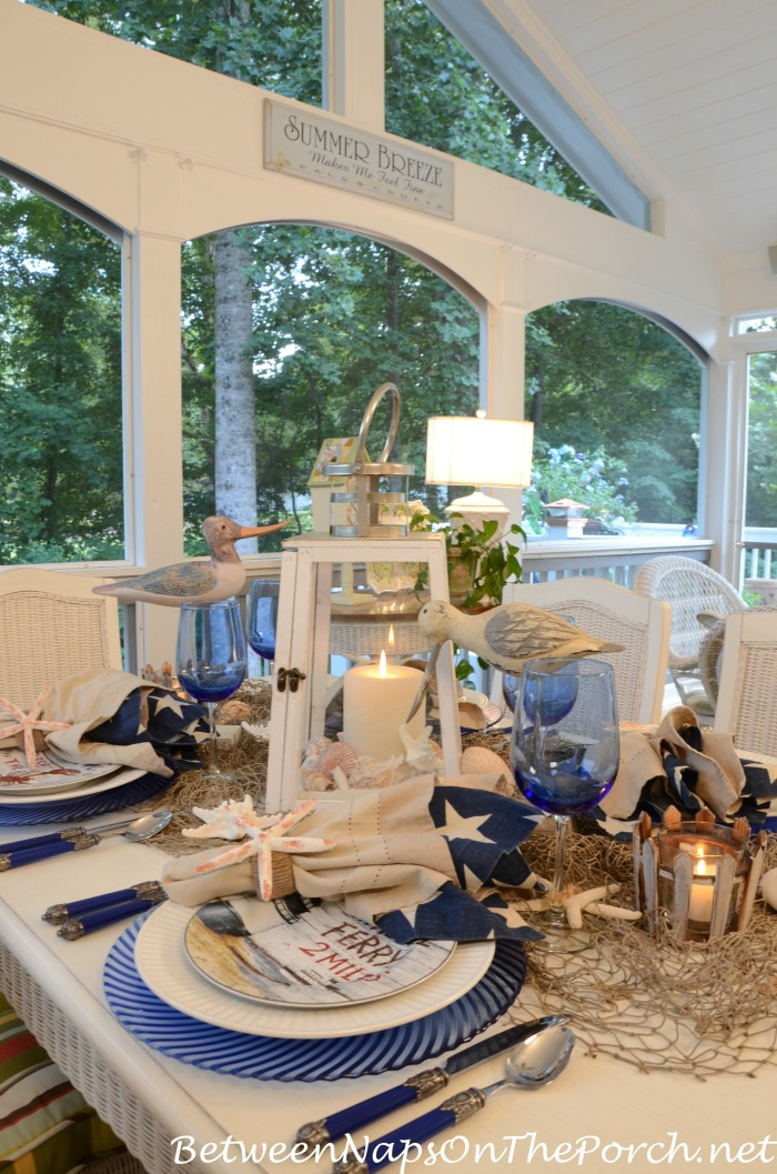 Beach Nautical Table Setting for Summer