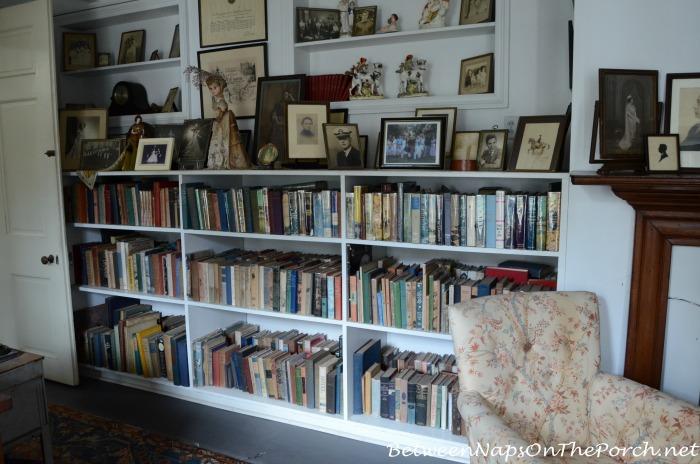 Bookshelves in Frances Parkinson Keyes Studio