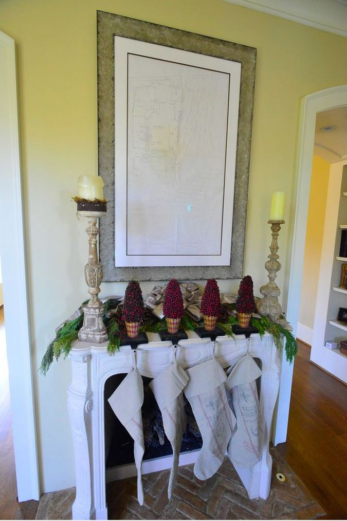 Christmas Mantel, French Country Style
