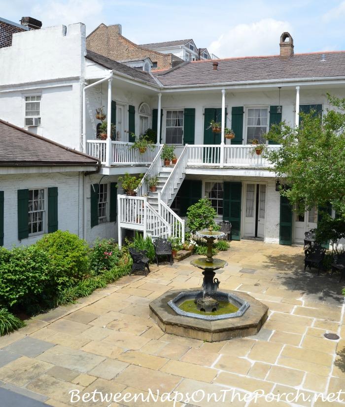 Courtyard of Frances Parkinson Keyes Cottage Studio