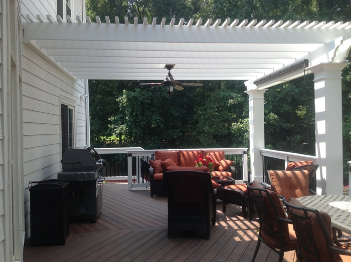 Deck and Pergola Addition 1