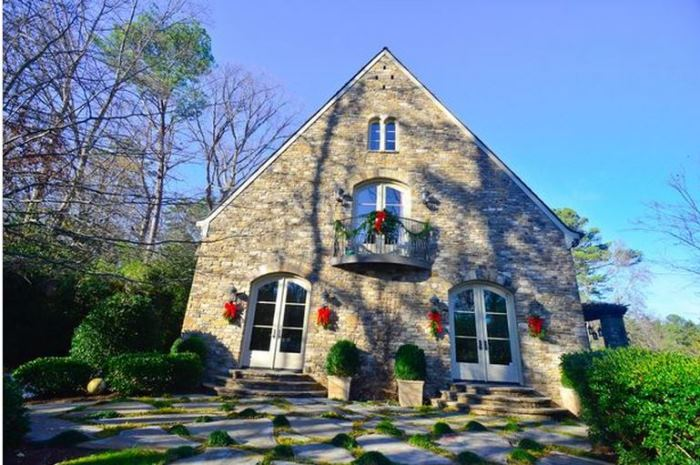 French Country Stone and Cedar Shake House