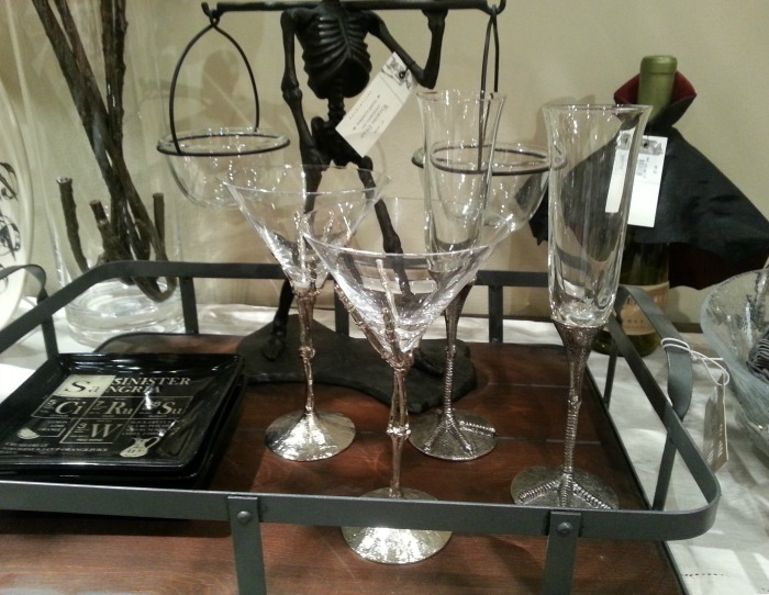 Halloween Martini & Champagne Glass