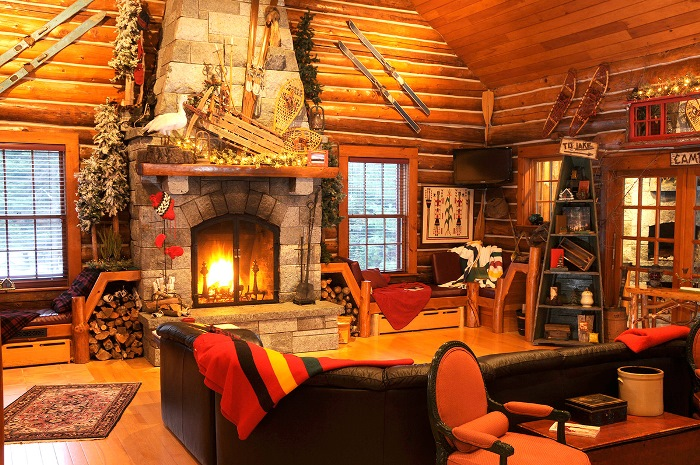 This Lodge Located On Lake Placid Can Be Toured Here Waterfront Lodge