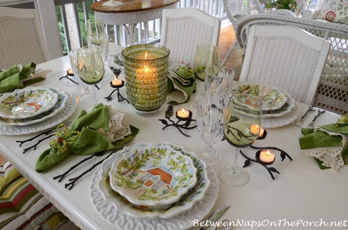 Ma Maison Dishware in a Summer Table Setting Tablescape