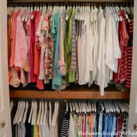 Organiizing Closet with Wood Hangers