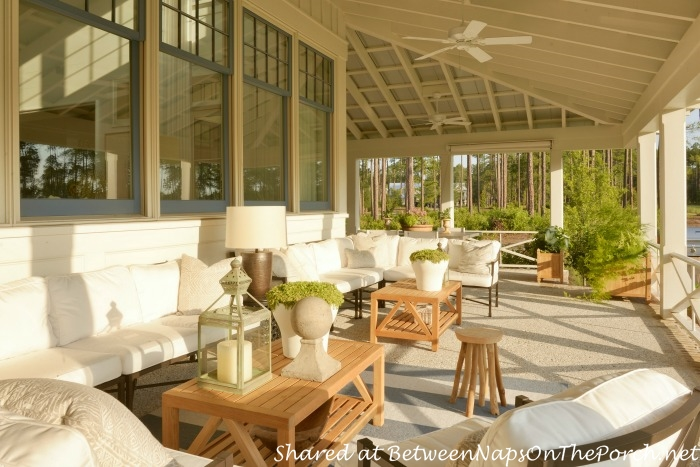 Porch of the 2014 Southern Living Idea House-Palmetto, SC