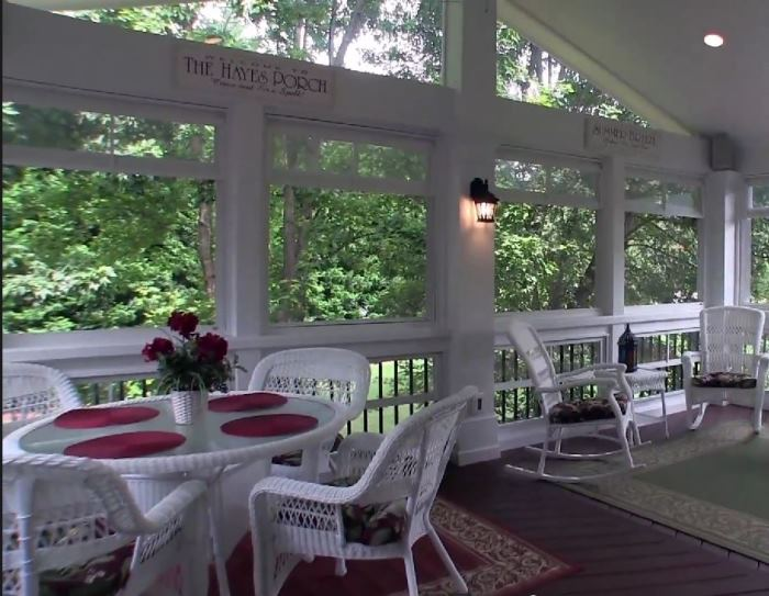 Replace Deck With A Screened Porch