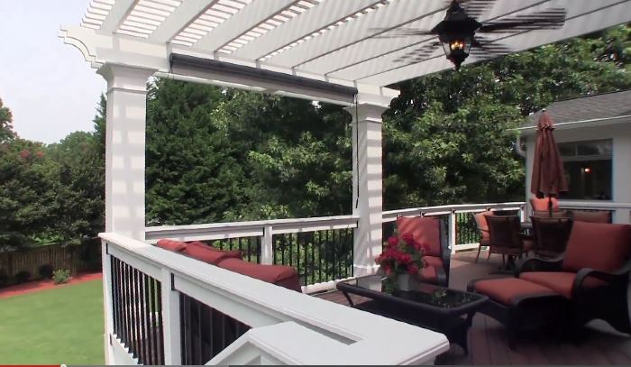 Seating Area On Deck with Pergola