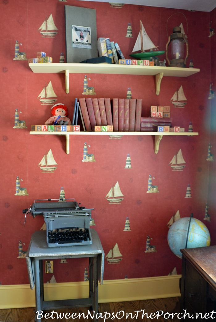 Shelves in Ralphie and Randy's Bed Room in A Christmas Story Movie House