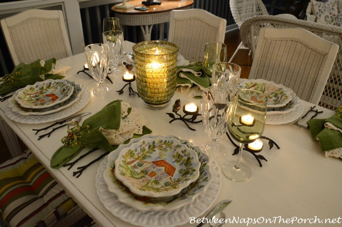 Summer Dinner Party By Candlelight