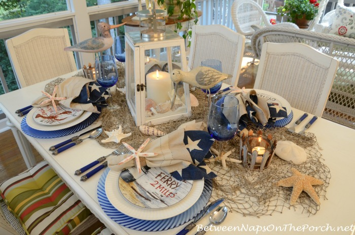 Summer Table Setting with Beach Theme
