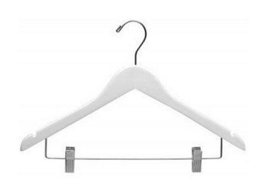 White Wood Suit Hangers