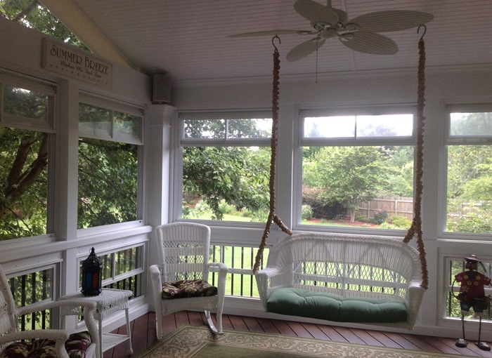 Wicker Swing For Screened In Porch