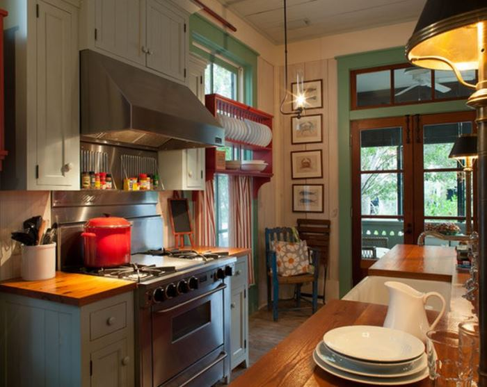 Adorable Cottage With Painted Cabinets, Painted Trim Molding