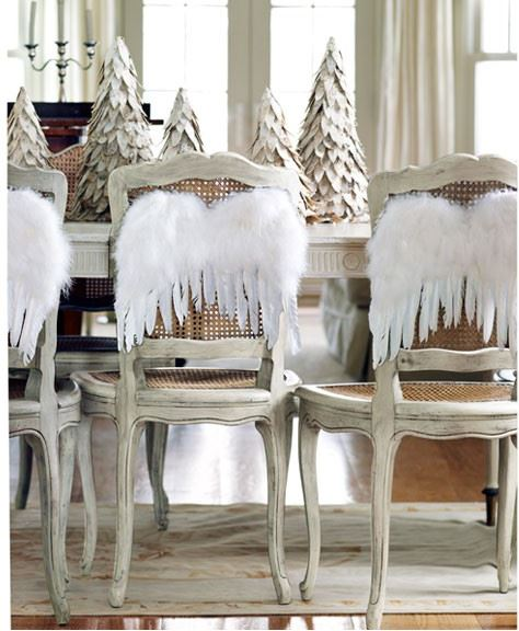 Angel Wings on Chairs