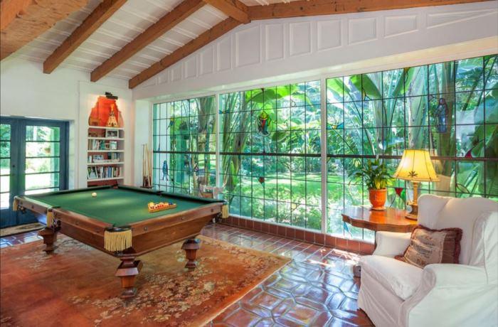 Annie Potts Pool Room, Tarzana, Los Angeles Home