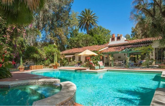 Annie Potts Pool in her Tarzana, Los Angeles home