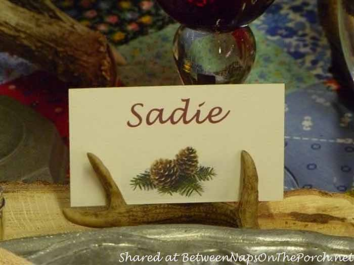 Antler Placecard Holders