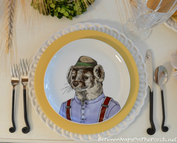 Badger Dapper Animals Salad Plate_wm