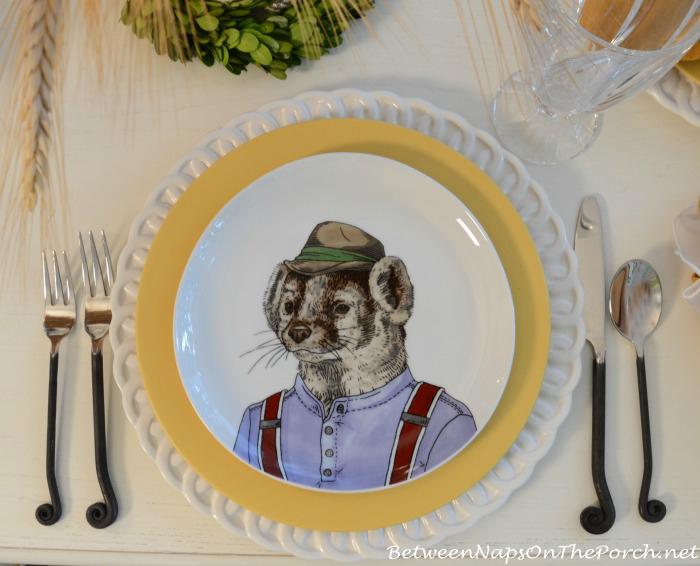 Badger Dapper Animals Salad Plate_wm
