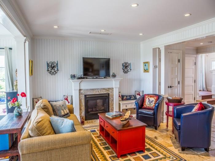 Beach Cottage Living Room Edgartown, MA