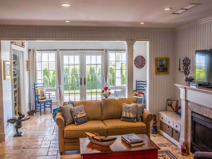 Beach Cottage Living Room Edgartown, MA