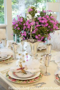 Birthday Party Table Setting Tablescape