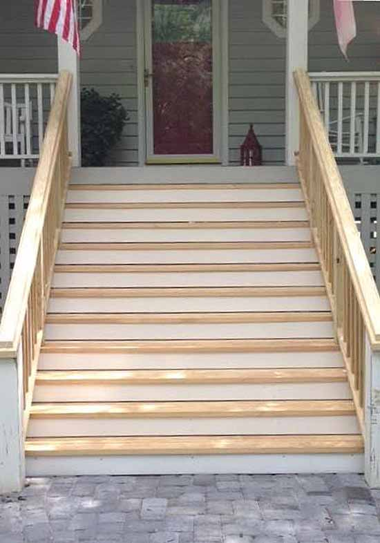 Brighting Up A Front Porch Staircase