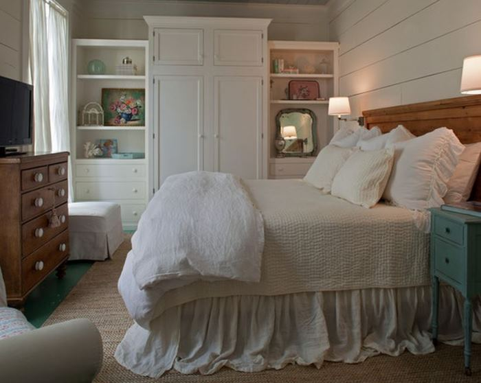 Cottage Bedroom, Built-in Cabinetry and Storage