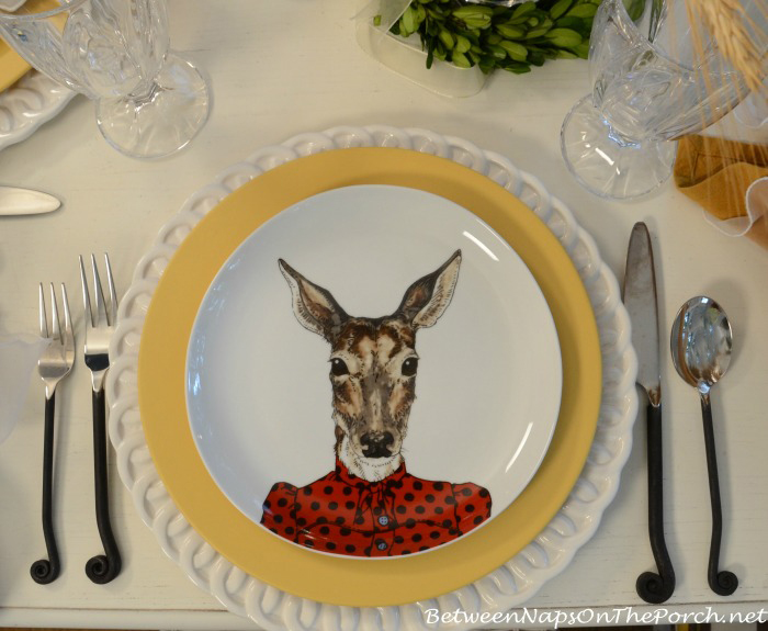 Doe Dapper Animals Salad Plate_wm