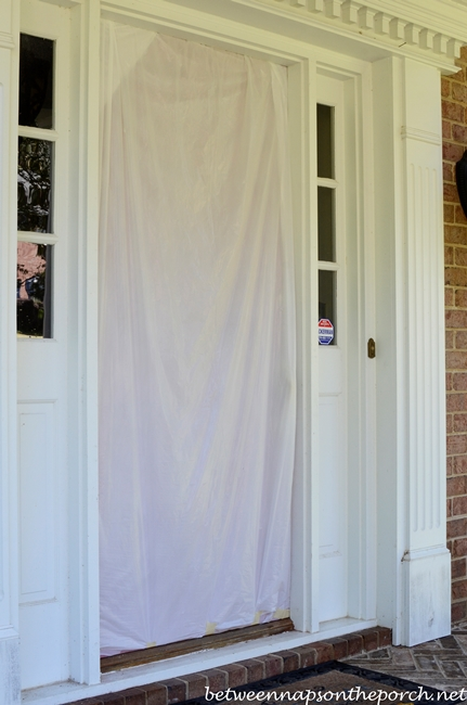 Door Covered for Pressure Washing_wm