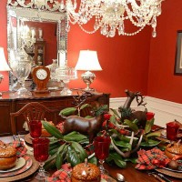Fall Tablescape, Plaid Dinner Plates and Deer Salad Plates